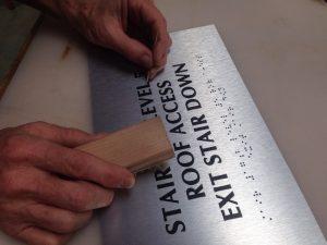 Brushed Aluminum ADA sign