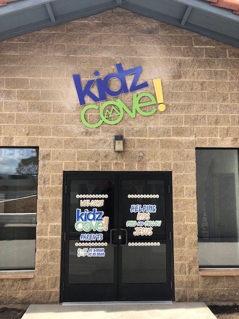 Dimensional letters at Kidz Cove