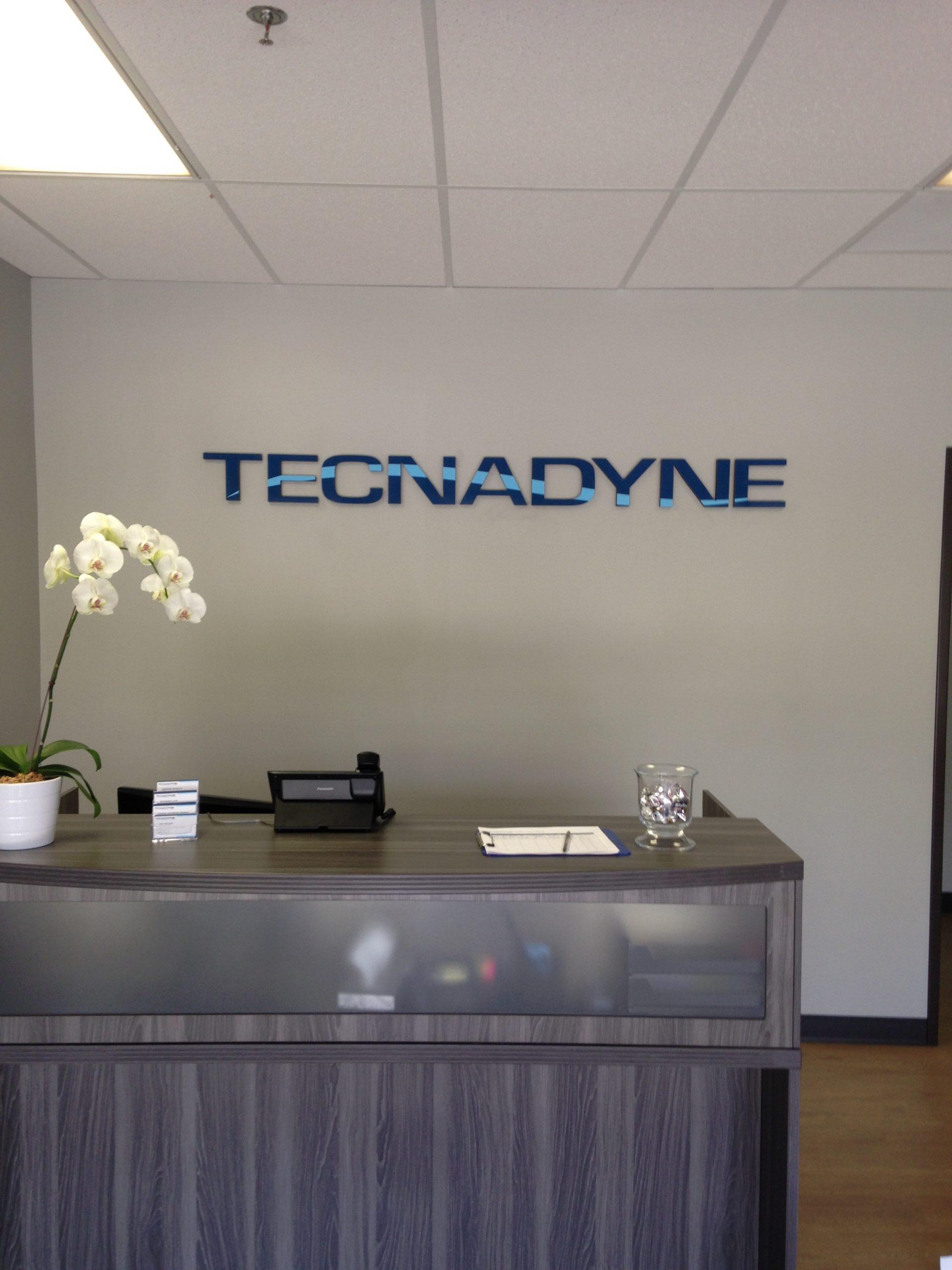 Lobby Sign for Tecnadyne