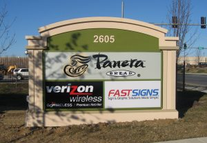 Monument Sign, Yes we produce signs for Fastsigns too