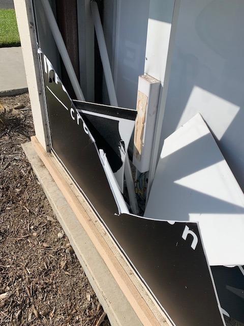 Blog Monument Sign needing repair