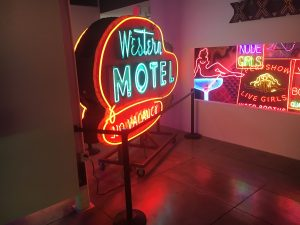 Old World Neon from the Western Motel and the topless bar