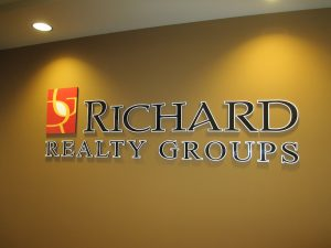 Richards Realty Group Lobby Sign