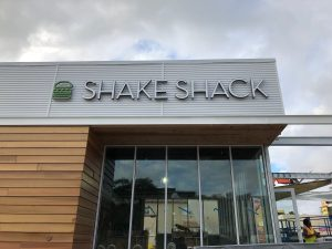 Shake Shack channel letters are narrow and fit the style of the firm