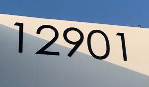 black acrylic address numbers