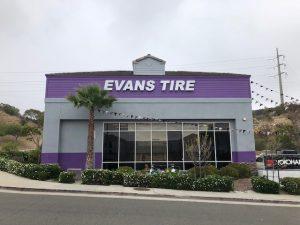 Channel Letter Evans Tire Purple