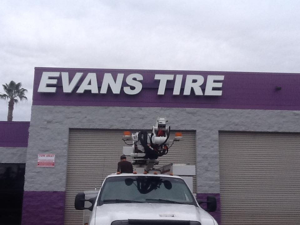 Channel Letters Evan Tire Shop