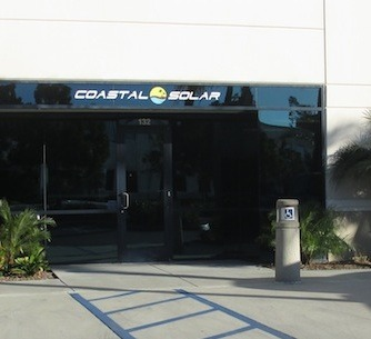 Here is the exterior sign for Coastal Solar