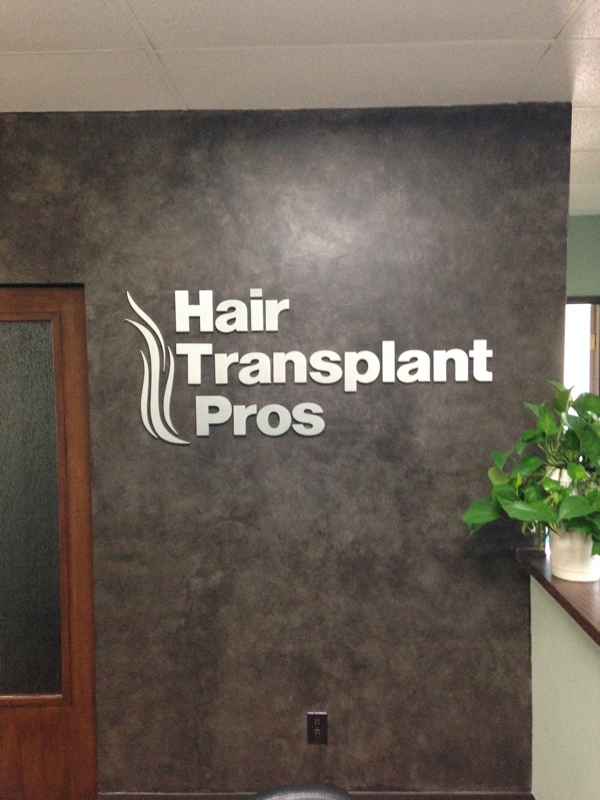 Lobby Sign is brush Aluminum for a medical office