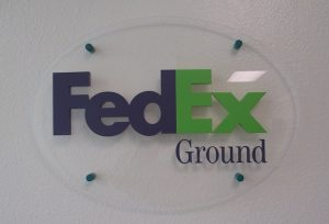 Lobby Sign for Fed Ex