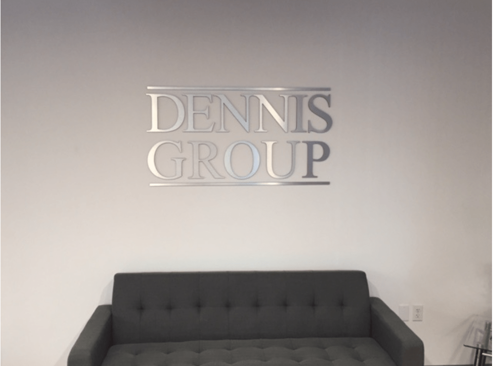 Lobby Sign Dennis Group Brushed Aluminum