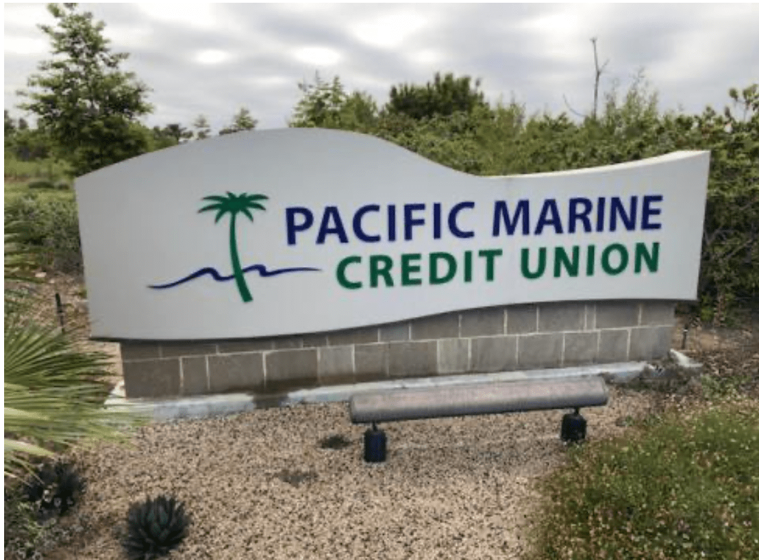 Monument Sign for Pacific Marine Credit Union