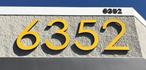 aluminum large address numbers in yellow