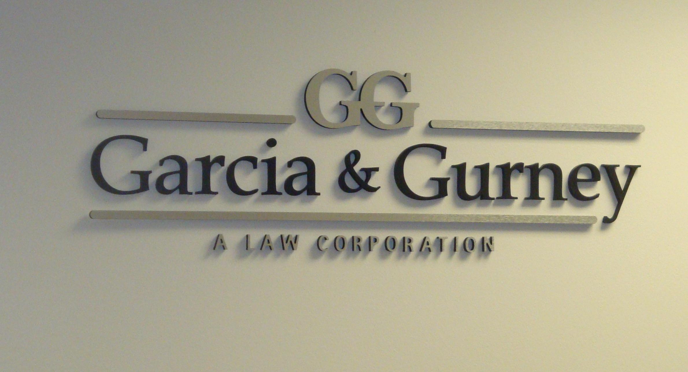lobby sign Garcia and Gurney