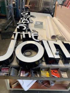 channel letter loose and ready to mount