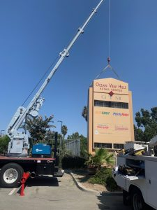 Monument sign install